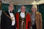 Cllr Kit Owen welcomes the Mayor of Godmanchester, Cllr David Underwood and his wife Wendy.